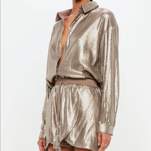 revendeur 859e9 fd8f2 C2 LA BRONZE JAMES Sequin Short Set / Co-ord NWT NWT